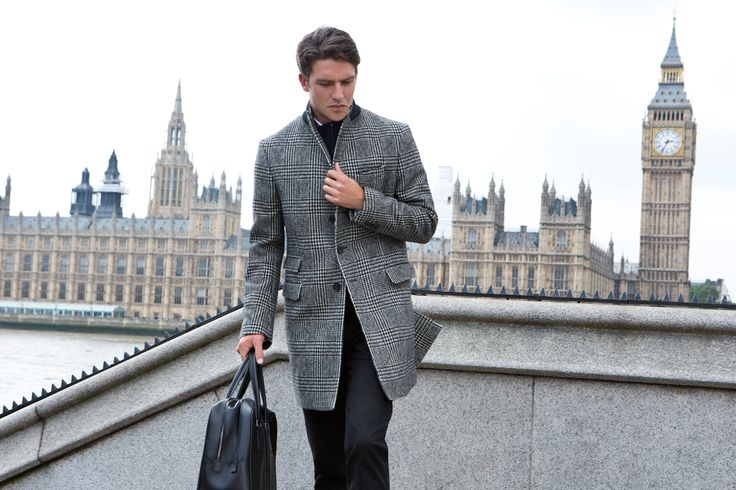 Fay City Diaries features the Men's Fall - Winter 2013/14 collection with the charming backdrop of London. Double Front Coat. http://www.fay.com/it/city-diaries/londra