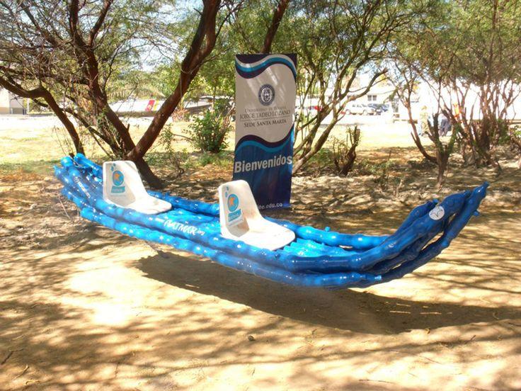 Kayak de botellas Pet www.facebook.com/ecocalaveras