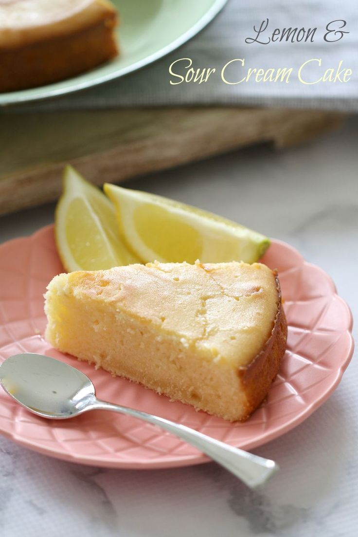 Lemon & Sour Cream Cake