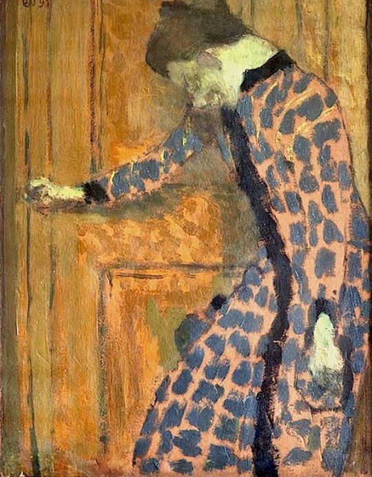 Young Girl, the Hand on a Doorknob - Edouard Vuillard , 1891 French, 1868-1940 Oil on canvas