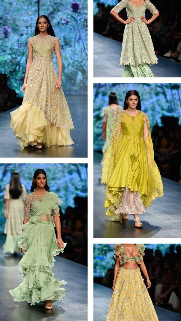 Lotus Make Up India Fashion Week Spring Summer 2019 Anushree Reddy India Fashion Week Fashion Show Dresses India Fashion