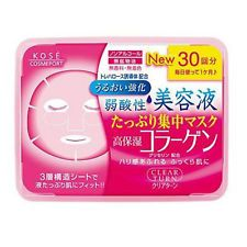 Kose Japan Clear Trun Lift Collagen Moisture Face Mask (30 sheet) Jumbo Size