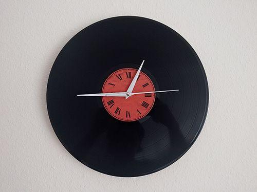Creating a vinyl record wall clock by @RaduLuchian