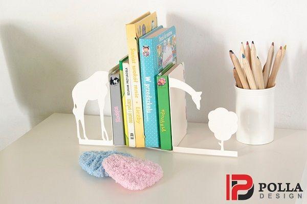 Podpórka do książek ŻYRAFA biała w Polla Design na DaWanda.com