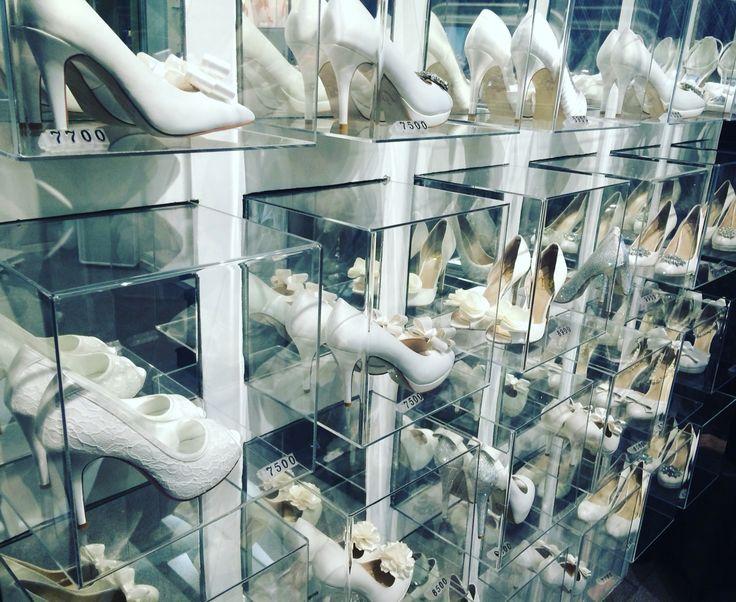 VivaBride wedding shoes, shelf for shoes, shoes store