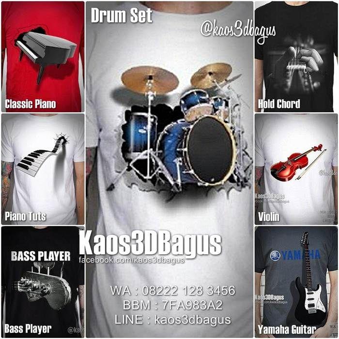 Kaos 3D Tema ALAT MUSIK, Kaos Gambar Piano Klasik, Kaos Gambar Gitar, Kaos Efek Gitar, Kaos Biola, Kaos Gambar Bass Gitar.   Info / Order :  WA : 08222 128 3456 BBM : 7FA983A2 LINE : kaos3dbagus  w...