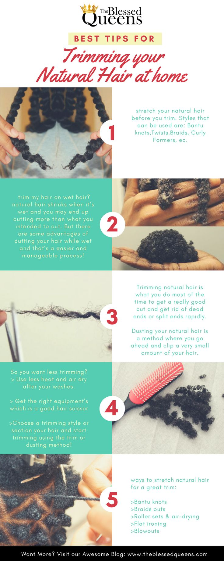 Have you ever wondered what are the Best Cutting Natural Hair Tips for Trim Hair at Home? 10 fundamentals on learning how to trim your natural hair easily!