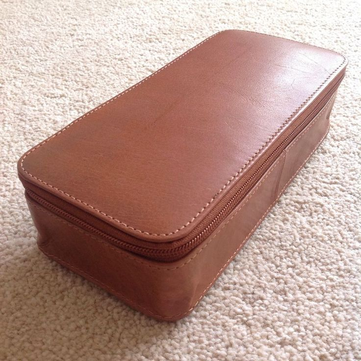 Genuine handmade large leather pencil case/artists case REDUCED