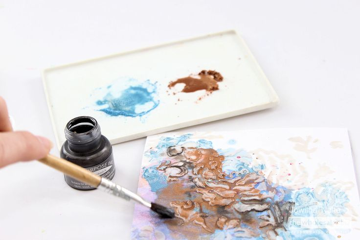 Create your own layers that shine using Anna Griffin Pigments. See how your layers of shimmery goodness makes for an interesting work of art.