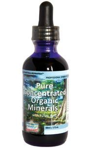 Extremely bioactive substances rich in low molecular weight fulvic compounds made up primarily of highly protective and seemingly immortal plant phytochemicals. Pure Concentrated Organic Minerals™ Liquid with Fulvic Acid