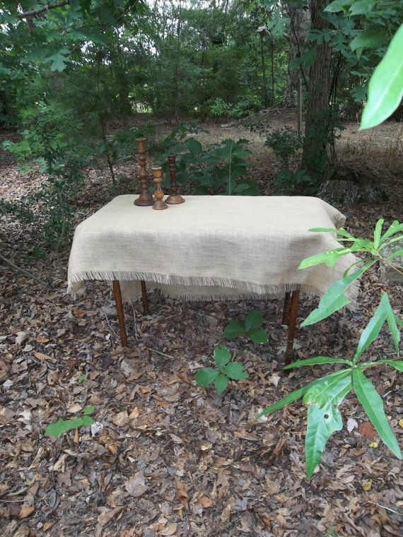 BurlapTablecloth Table Topper Overlay Handmade by misshettie, $35.00