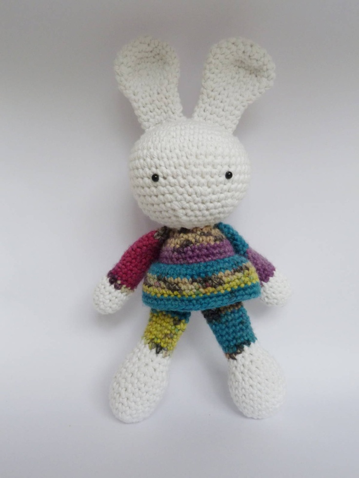 Amigurumi Bunny Girl : Girl Rabbit, bunny, crochet amigurumi doll toy stuffed ...