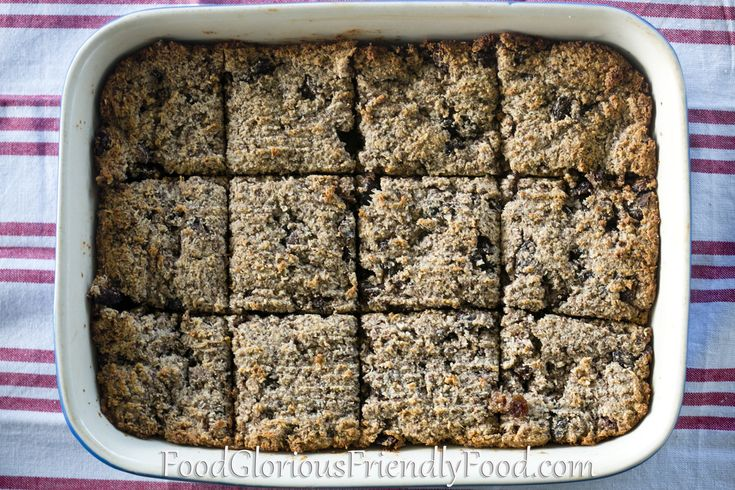 Almond Chia Breakfast Slice- free from gluten/grain/dairy/refined sugar/egg.  A wonderful, filling, protein-packed breakfast or lunch box snack.  http://www.foodgloriousfriendlyfood.com/1/post/2013/08/almond-chia-breakfast-slice.html