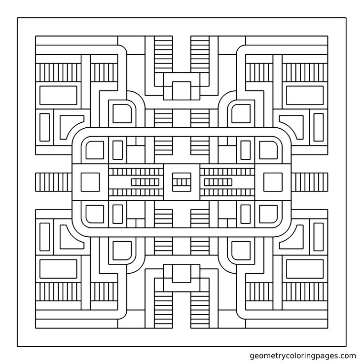 quot Circuit quot Adult Coloring Pages Pinterest Geometric