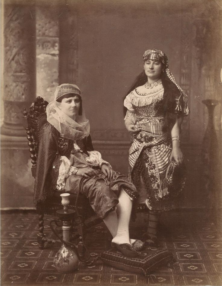 Turkish women19th century Ottoman Empire. old photo. ottoman costume