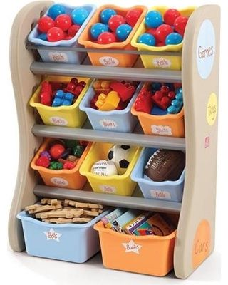 Storage Bin Organizer - I have this in our living room to store baby boy's toys and we love it!