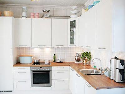 Armário de cozinha escandinava