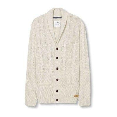 Prezzi e Sconti: #Edc by esprit cardigan beige Uomo  ad Euro 80.99 in #Cardigan con bottoni #Felpe maglie e cardigan