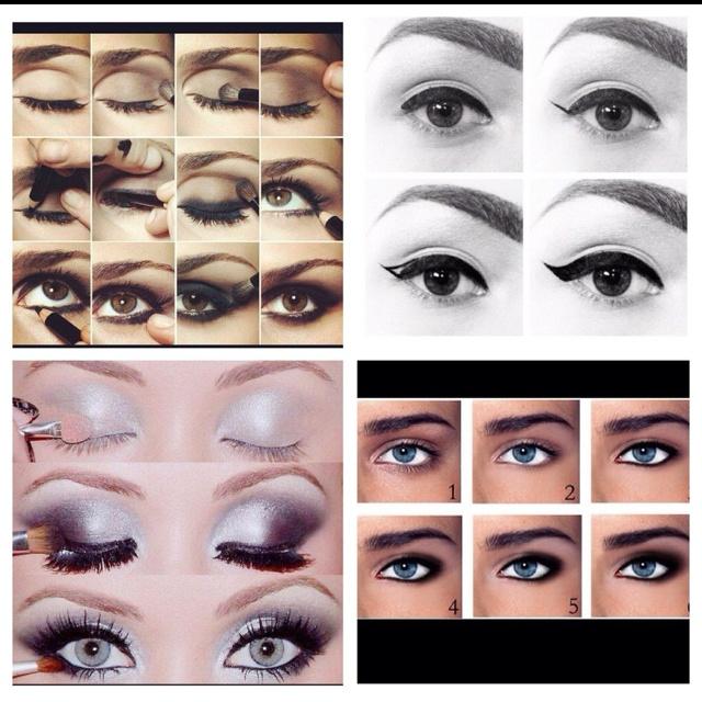 Step by step eye makeup.
