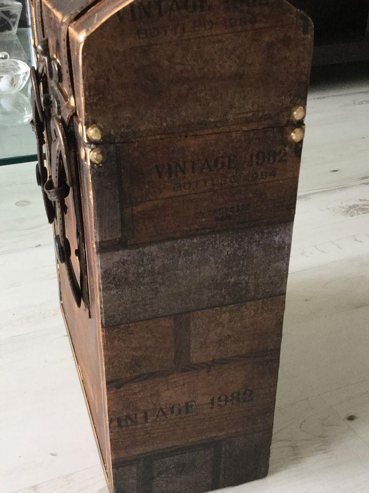 Decoupage winebox