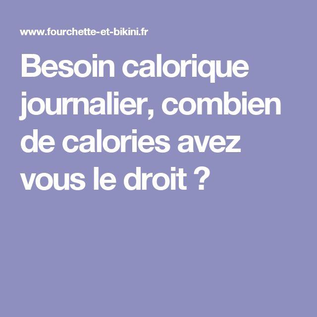 Besoin calorique journalier, combien de calories avez vous le droit ?