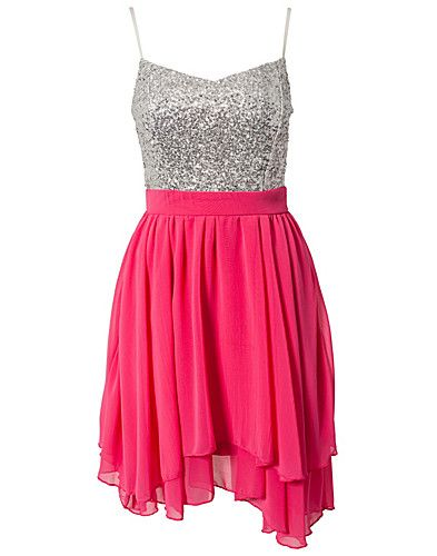 Sequin Sweetheart Dress - Te Amo - Magenta - Festkjoler - Tøj - NELLY.COM