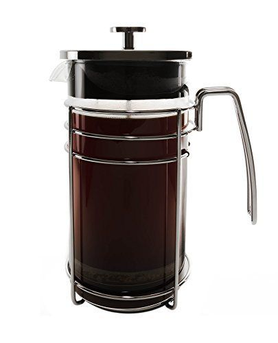 Bruntmor KRATER 8 Cup (34 Oz) Modern French Press Coffee and Tea Maker with 3 Bonus Filter Screens, Best Coffee Press Pot with Stainless Steel Plunger & Borosilicate Heat & Shock Resistant Glass - http://teacoffeestore.com/bruntmor-krater-8-cup-34-oz-modern-french-press-coffee-and-tea-maker-with-3-bonus-filter-screens-best-coffee-press-pot-with-stainless-steel-plunger-borosilicate-heat-shock-resistant-gla/