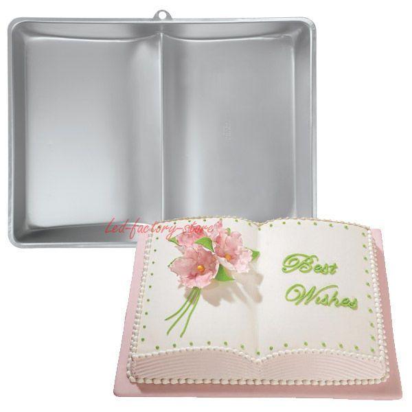 New 1PC Book Shape Cake Pan Cake Tin Cake Decoration Mold Baking