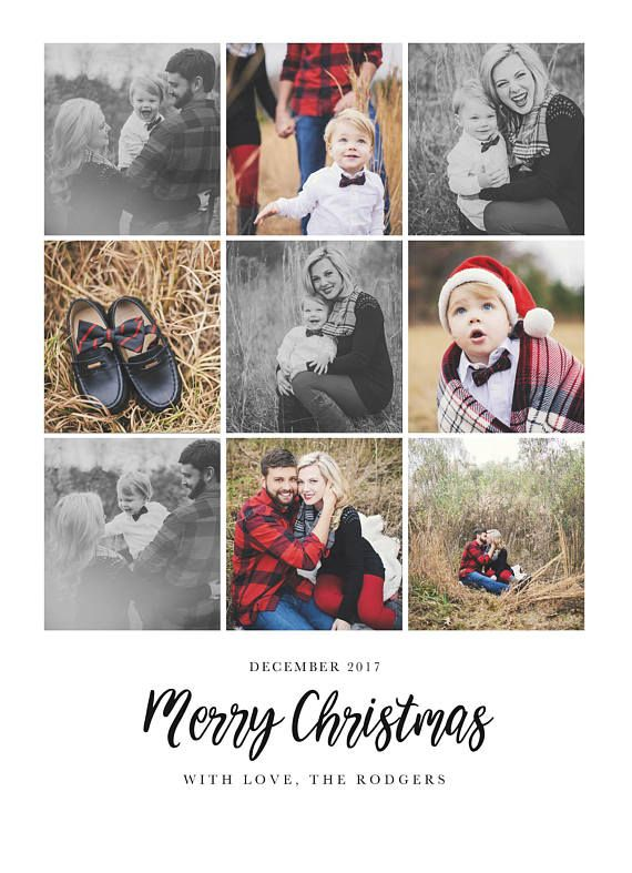 Year In Review Christmas Card Template 5x7 Photo Card Free Etsy Christmas Card Template Christmas Photo Card Template Christmas Cards
