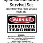 Worried about how to keep students productive in the proficiency based classroom while you are absent? Help kids be productive, talking (in Spanish) and really using the language while you are absent. Why bother writing Emergency Sub Plans?  Here are 12 pages of ideas and inspiration for substitutes who don't speak Spanish!  INCLUDES: 8 Creative,...