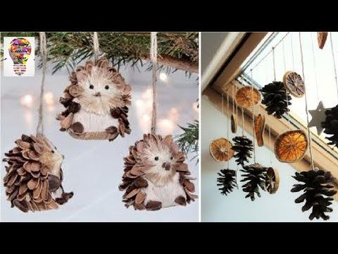 Amazing Ideas And Decorations From Cones 1 Youtube Christmas Crafts Christmas Decorations Christmas Cones