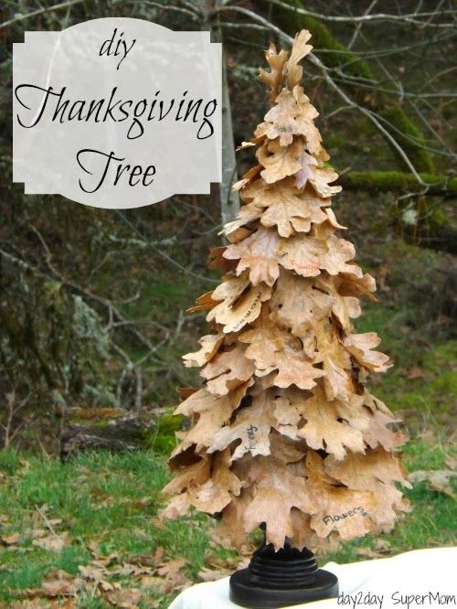 DIY Thanksgiving Tree by Day 2 Day Super Mom
