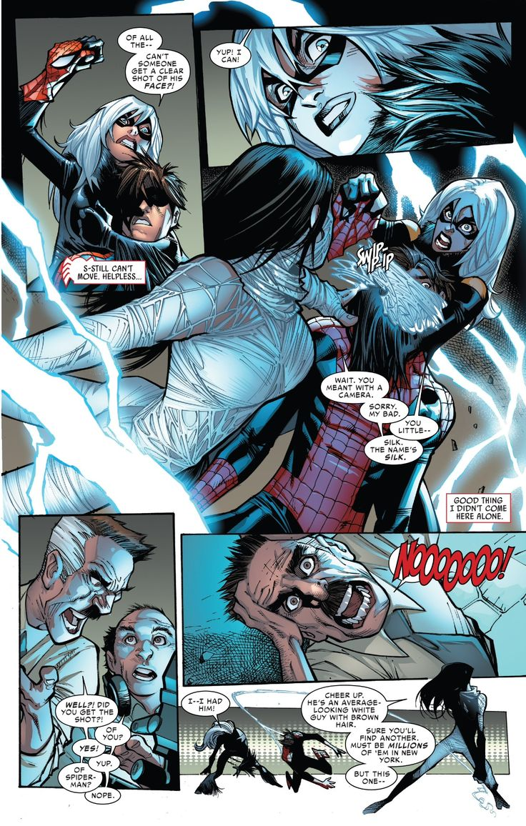 Black Cat, Silk, Spidey and Jonah in Amazing Spider-Man vol. 3 #6