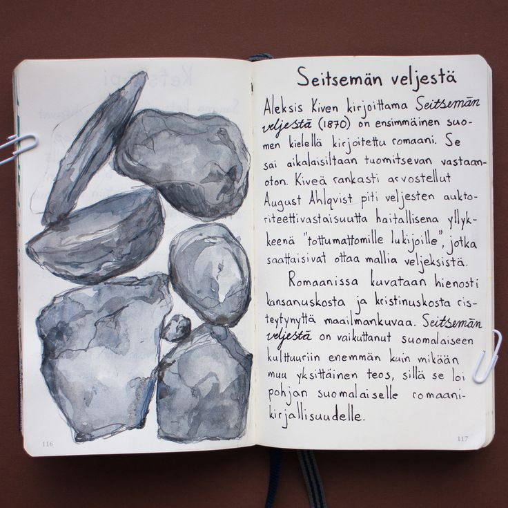 From sketchbook of Petri Fills #sketchbook #drawing #SeitsemänVeljestä