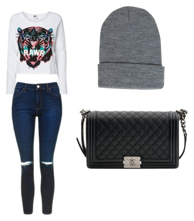 Untitled #14 by lidiasalazar on Polyvore featuring polyvore fashion style Vero Moda Topshop Chanel Boohoo clothing
