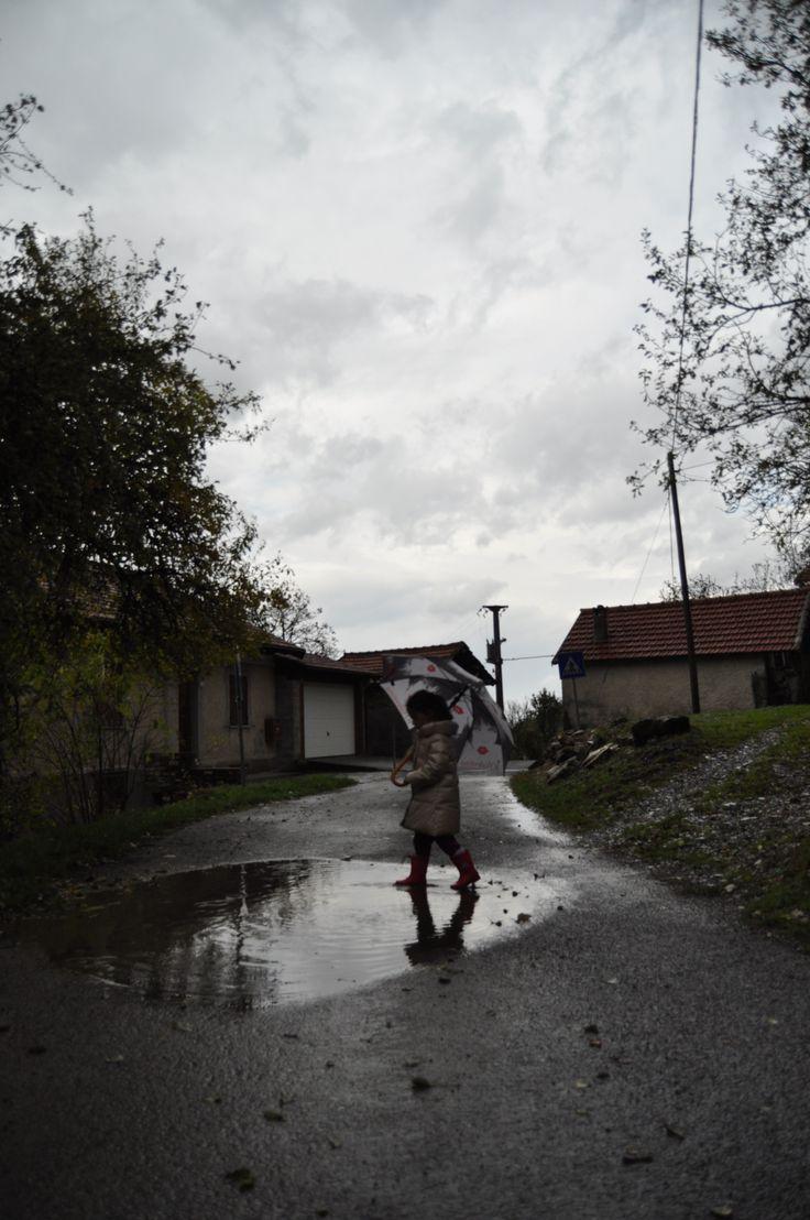 danzando sotto la pioggia......