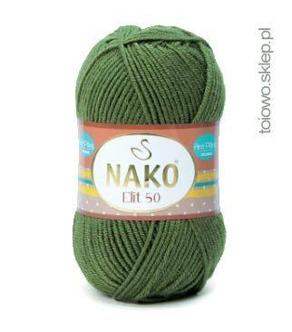 Włóczka Nako Elit 50, miękka, odporna na ficowanie, akryl niepylący !