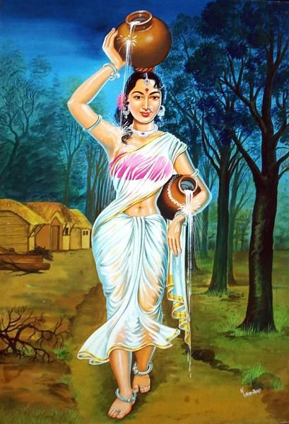 Indian village woman google search indian village woman pinterest paintings help me and - Beautiful woman painting hd ...