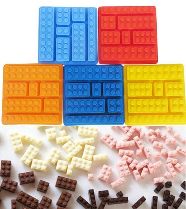 Pas cher Hot Sale place rectangulaire Lego bac à glaçons Brick forme Silicone Fandont Chocolate Mold Ice Cube moule à Cake ustensiles de cuisson gâteau outils, Acheter    de qualité directement des fournisseurs de Chine:                     F                                    E         un         T         U         R         E         s