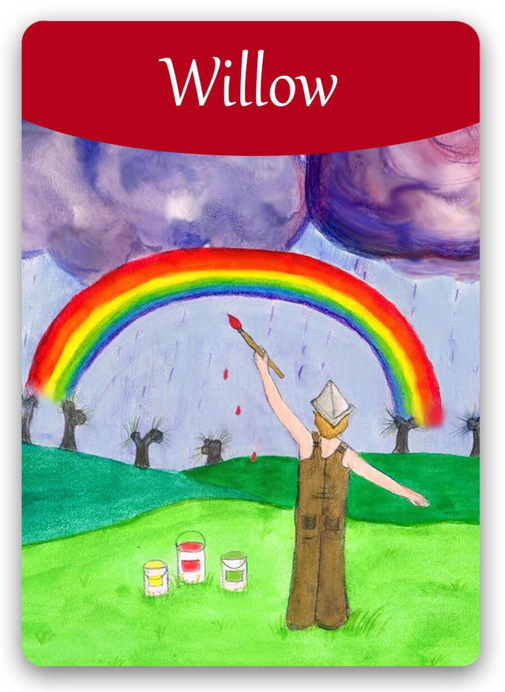 Bach Flower Cards [Willow] - Willow is a state in which feelings are powerfully projected into the outside world. In this state, people are very good at making demands, but never see a need to reciprocate. They criticize to an extent that they finally alienate all those who once tried to help them. Once transformed to the positive state, this person will take responsibility for his or her own fate. He will cease being a victim, and will become the master of his own fate.