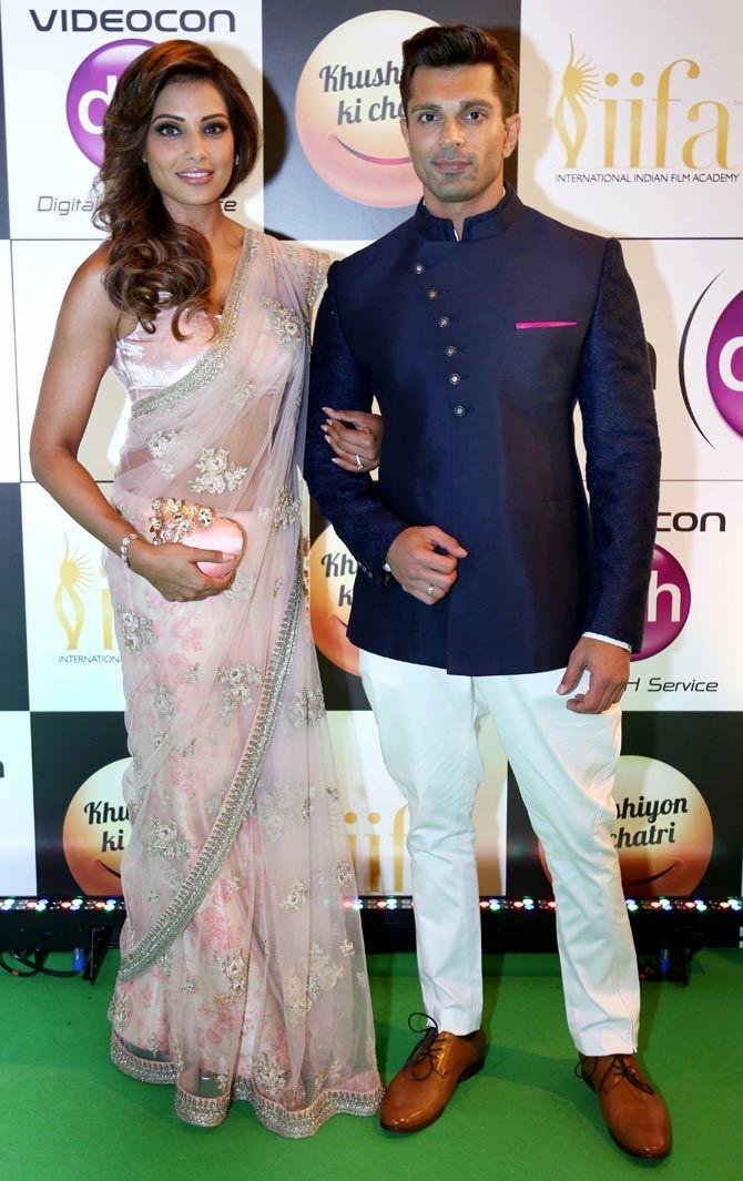 Bipasha Basu with husband Karan Singh Grover at IIFA Rocks 2016.