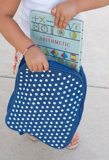 Outstanding DIY Polka Dot Backpack - http://architecture724.com/decoration-ideas/outstanding-diy-polka-dot-backpack.html