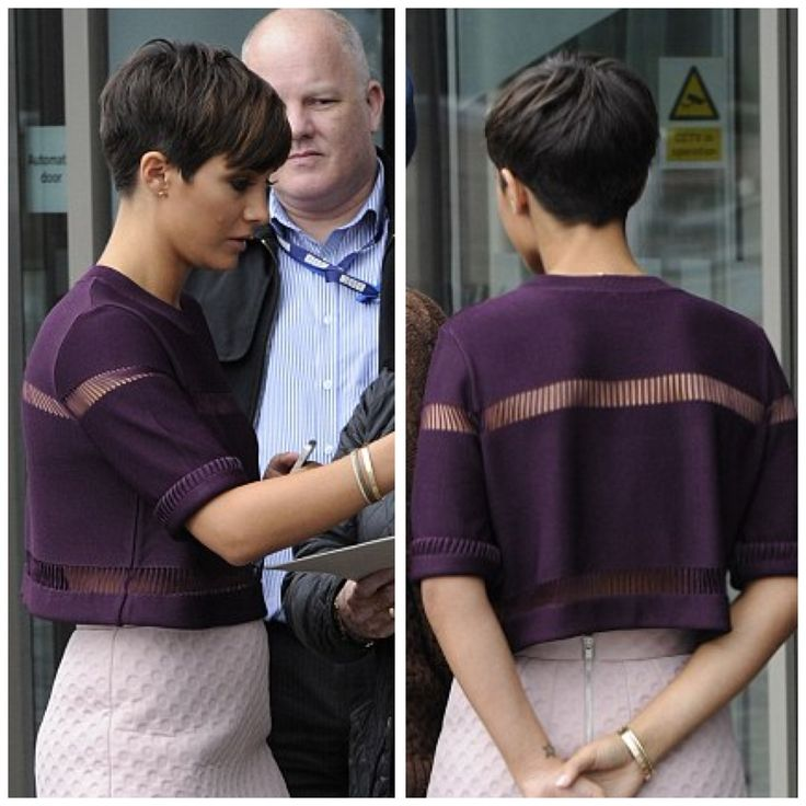 Off goes my hair today .........Frankie Bridge (Sandford) pixie cut