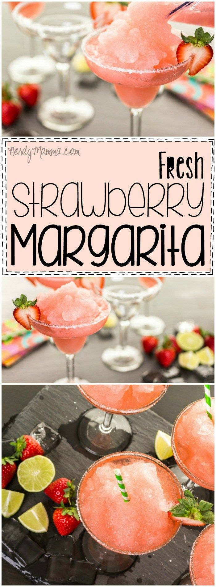 Have you ever had a margarita made from fresh strawberries Me neither! I can't wait to try this recipe, though! Definitely saving this pin!