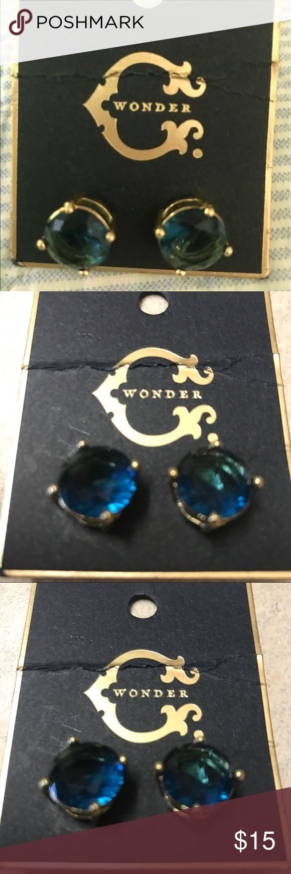 NWT C Wonder earrings spearmint C Wonder earrings, color spearmint - blue'ish green'ish C Wonder Jewelry Earrings