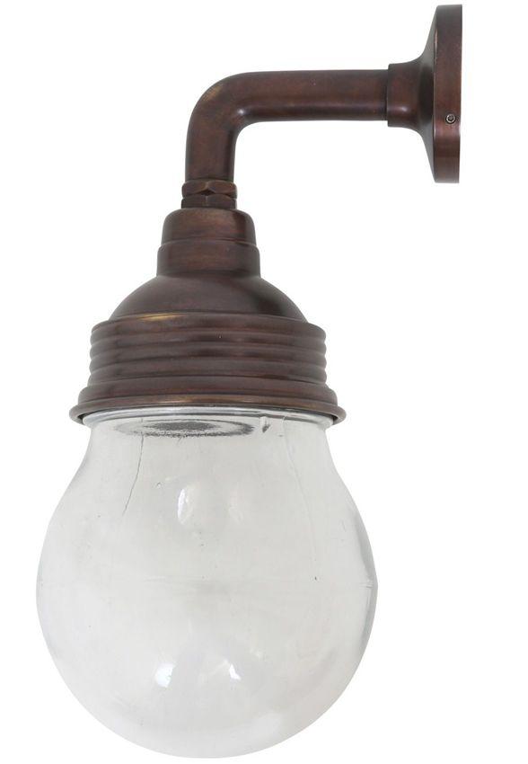 Buitenlamp Vasco Antiek Brass Dark IP54. Deze Lampen Zijn In Principe Op Voorraad Bij Onze Toeleverancier. Max 40 Watt E27. Verzenden Is Gratis. Buitenlamp Vasco Antiek Brass Dark Antiek Brass Dark