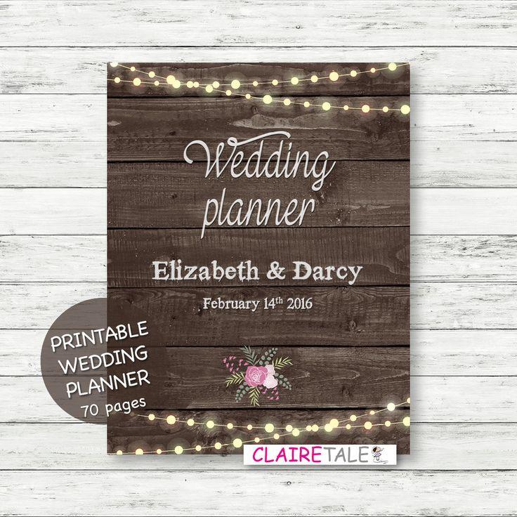 Printable Wedding Planner Binder Planning A Rustic: 17 Best Ideas About Wedding Planner Checklist On Pinterest