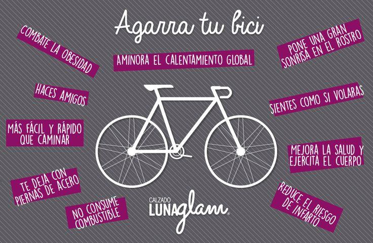 Agarra tu #bici en este #DiaMundialSinAuto #Bicicleta #mujeres #salud