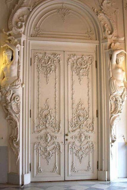 Doors at Catherine Palace, St. Petersburg.
