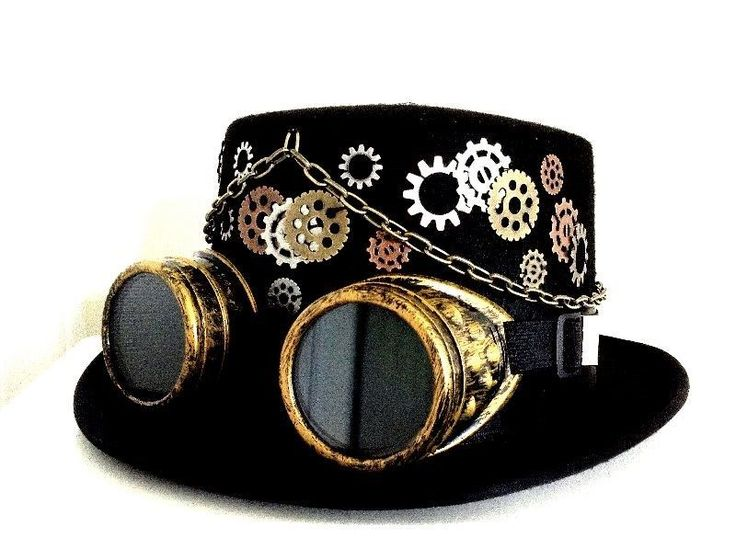 Steampunk gothic men 39 s black top hat w goggles gears and for Monocle promo code